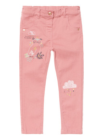 Pink Embroidered Jean (9 months-6 years)