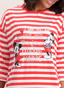 Disney Mickey & Minnie Mouse Red Stripe Nightdress