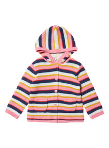 Multicoloured Stripe Hooded Cardigan (0-24 months)
