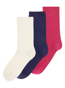 Multi Cotton Modal Ankle Socks (Pack of Three)
