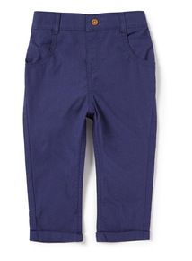 Navy Twill Trouser  (0-24 months)