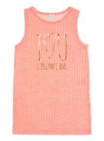 Pink I Love Unicorns Print Top (3 - 14 years)