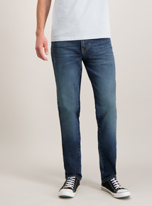 Blue Mid Wash Slim Fit Denim Stretch Jeans