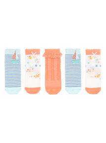 Girls Ahoy There Socks 5 Pack