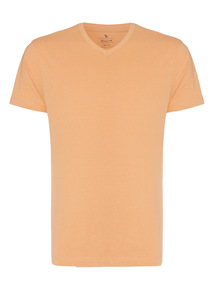 Orange V-neck T-shirt