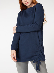 Blue Ruched Tunic