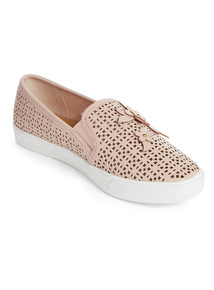 Online Exclusive Sole Comfort Floral Laser Cut Skater Shoes