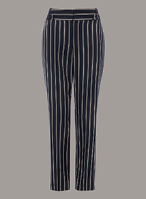 Premium Pinstripe Tapered Trousers