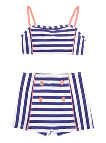 Multicoloured Striped Bikini (5 - 14 years)