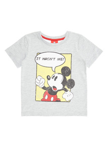 Grey Disney Mickey Tee (9 months-6 years)