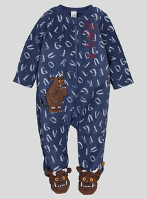 The Gruffalo Grey & Blue Long-Sleeved Super Soft Sleepsuit (0 - 24 months)
