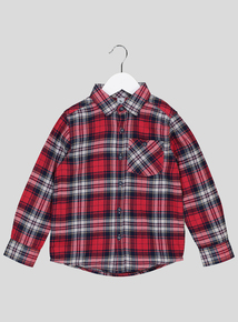 Red Brushed Cotton Check Shirt ( 9 months - 6 years)