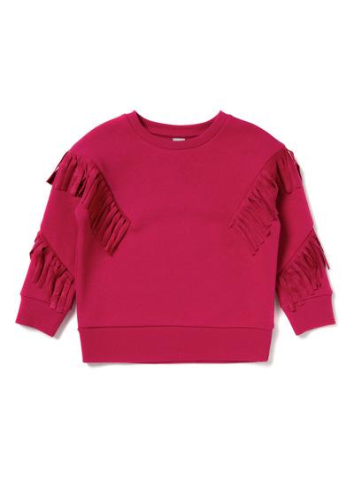 Pink Fringe Sweatshirt (3-14 years)