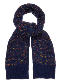 Speckled Knitted Scarf