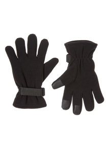 Black Thinsulate Fleece Gloves