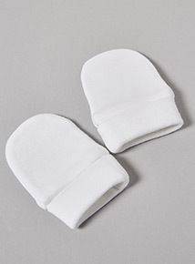 4 Pack White Scratch Mitts