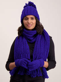 Cobalt Blue Knitted Scarf