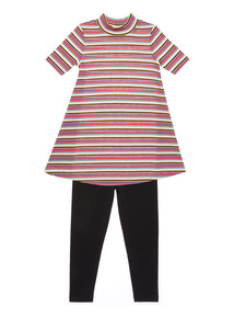 Pink Striped Ribbed Set (3 - 12 years)