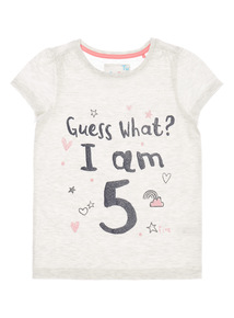 Grey 'I Am 5' Top (4 - 5 years)
