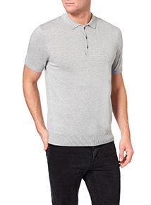 Grey Short Sleeve Polo