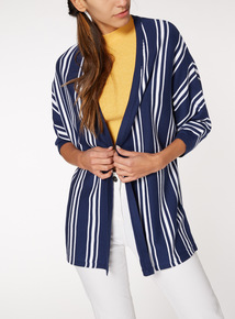 Online Exclusive Stripe Edge To Edge Cardigan