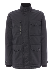 Black Wax Padded Jacket