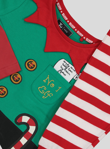 Christmas Multicoloured Elf Novelty Pyjamas (2-12 years)