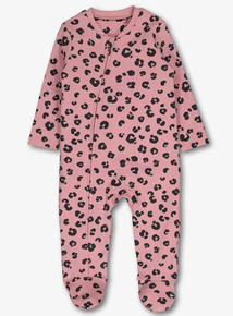 7eafceded69 Pink Leopard Print Sleepsuit (Newborn - 24 months)