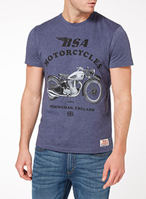 Blue BSA Motorbike Tee