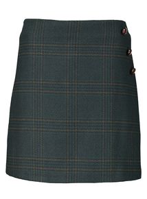 Green Check Mini Skirt
