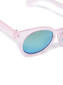 Pink Round Mirrored Sunglasses