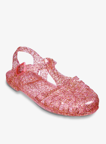 c7ca539ffbc4 Pink Glitter Jelly Shoes (4 Infant- 4)