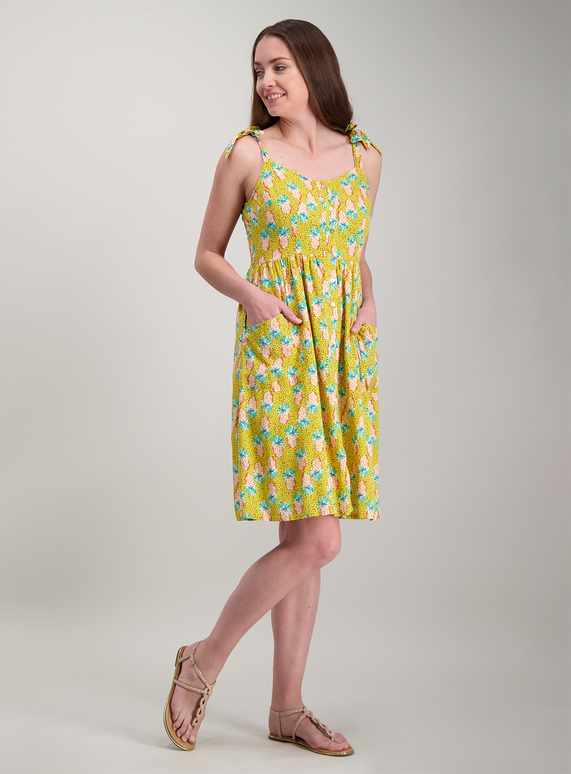 8e1544c5b9b Womens Multicoloured Pineapple Print Summer Dress