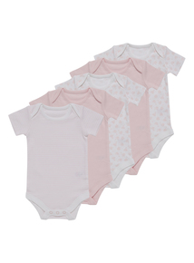 Pink Bodysuit 5 Pack (0-3 years)