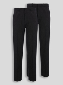 Boys Black Trousers 2 Pack (10 - 16 years)