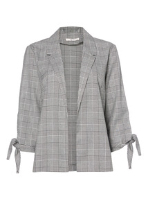 Check Tie Sleeve Jacket