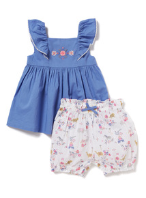 2 Piece Woven Top and Shorts Set (0-24 months)