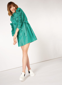 GFW Ruffle Sleeve Stripe Dress