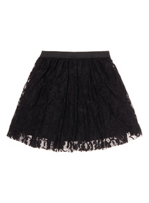 Girls Black Lace Skirt (3-14 years)