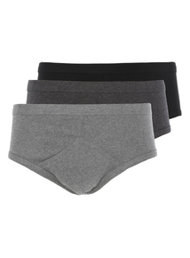 Grey Classic Briefs 3 Pack