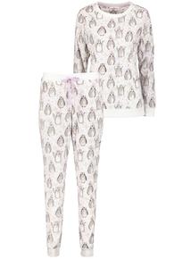 Christmas Cream Penguin Pyjamas