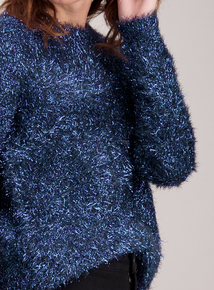 Blue Tinsel Jumper