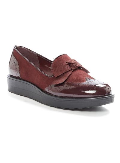 Red Platform Loafers