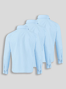 Blue 3 Pack Long Sleeve Blouses (3-16 years)