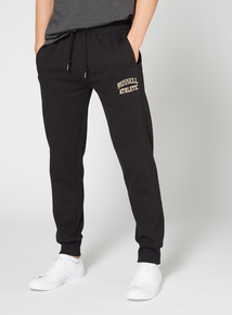 Russell Athletic Black Flock Print Jogger