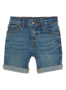 Boys Blue Mid Wash Denim Shorts (3 - 14 Years)