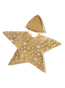 Gold Christmas Star Costume (3-10 years)