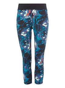Multicoloured Marble Print Leggings