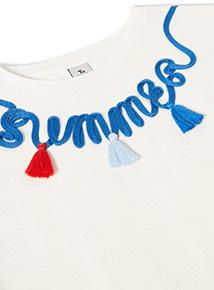 Cream Summer T-Shirt (3-14 years)