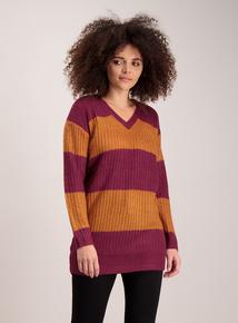 Dark Pink & Orange Stripe Tunic